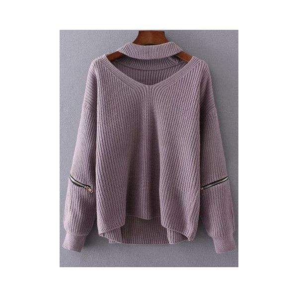 Sweaters & Cardigans For Women | Cheap Pullover & Knitwear Sale Online... ❤ liked on Polyvore featuring tops, sweater pullover, purple pullover, purple top and pullover top