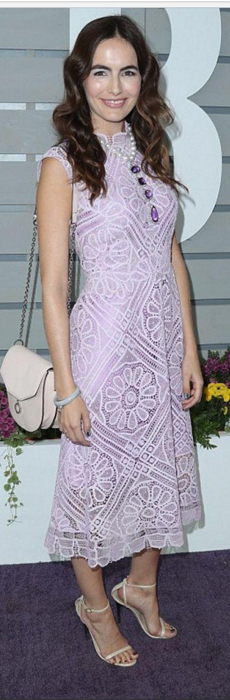 Camilla Belle in Dress – Martha Medeiros  Purse – Louise et Cie