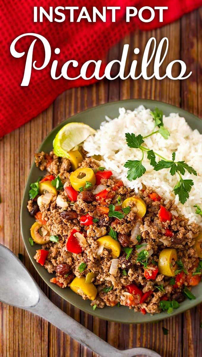 Instant Pot Picadillo Is Made With Ground Beef And Lots Of Savory Ingredients P Beef Recipe Instant Pot Instant Pot Dinner Recipes Healthy Instant Pot Recipes