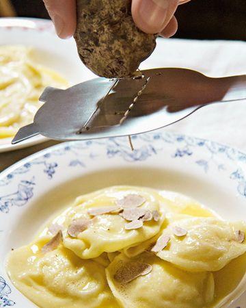 Kartoffelravioli mit Trüffel, Anna Sgroi Hamburg