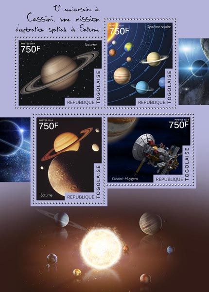 TG 14503 aThe 10th anniversary of Cassini, the space exploration mission to Saturn (Saturn, Solar System, Cassini-Huygens)