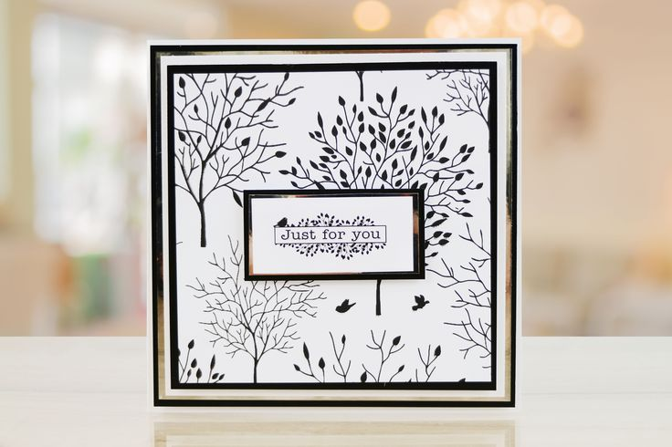 Card screen printed with the Screen Sensation + Shadow Tree screen