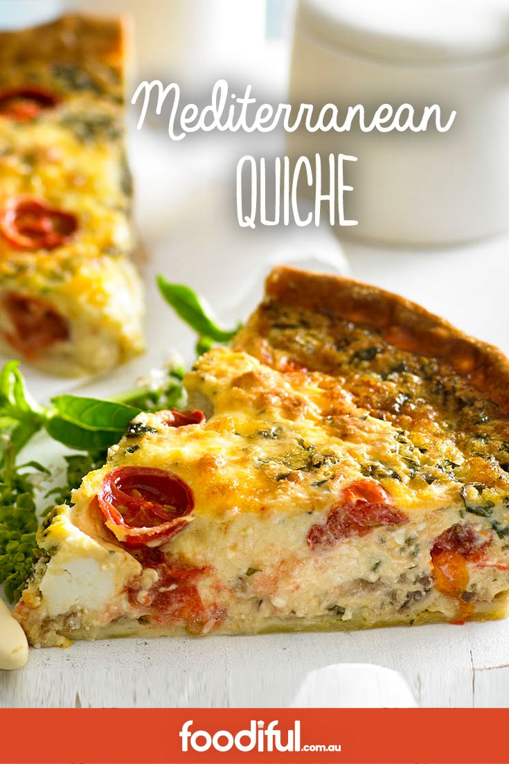 With chunky pieces of feta cheese and cherry tomatoes, prepare to fall in love with every bite of this Mediterranean-style quiche. The recipe serves 6 and takes 1 hr and 30 mins.