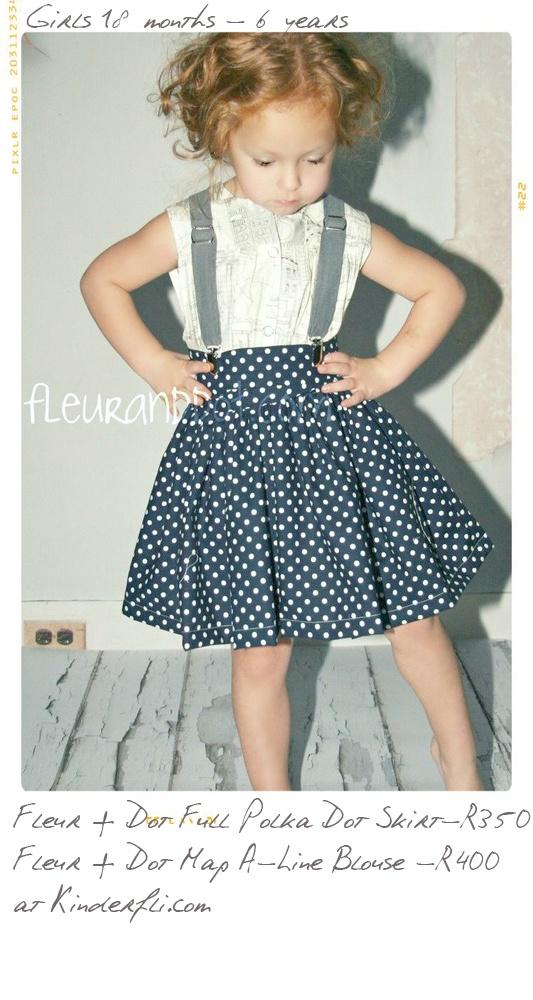 Polka Dot Skirt from Fleur + Dot at Kinderfli.com
