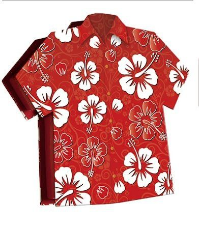 Hawaiian Shirt Gift Box with Sugar Free Jelly Belly Jelly Beans - Diabetic Candy