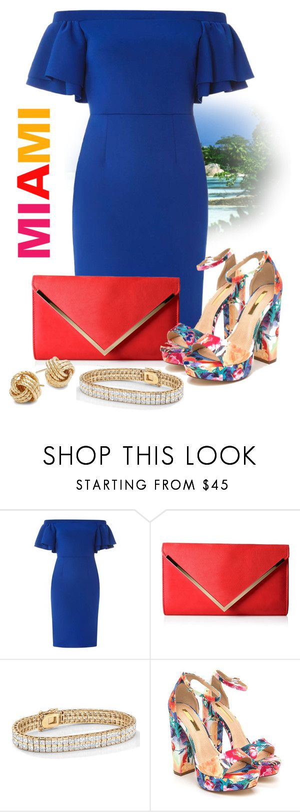 """""""Miami Spice ♡"""" by shaniquajenae ❤ liked on Polyvore featuring Dorothy Perkins, ALDO, Palm Beach Jewelry and Saks Fifth Avenue"""