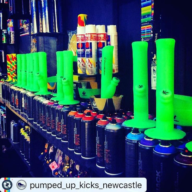 @pumped_up_kicks_newcastle with The amazing #kermitthebong all silicone glow in dark bongs and bowls plus multi coloured all silicone bongs and bowls available in store amazing product along with the brilliant #newportbutane perfect for all your needs refills dabs dabs and the amazing #montanacans #montanablack in stock along side the brilliant #ironlak paint both top products plus loads more products available in store drop in say hi #bongshop #islington #paint #stoners #madhousedjsau…