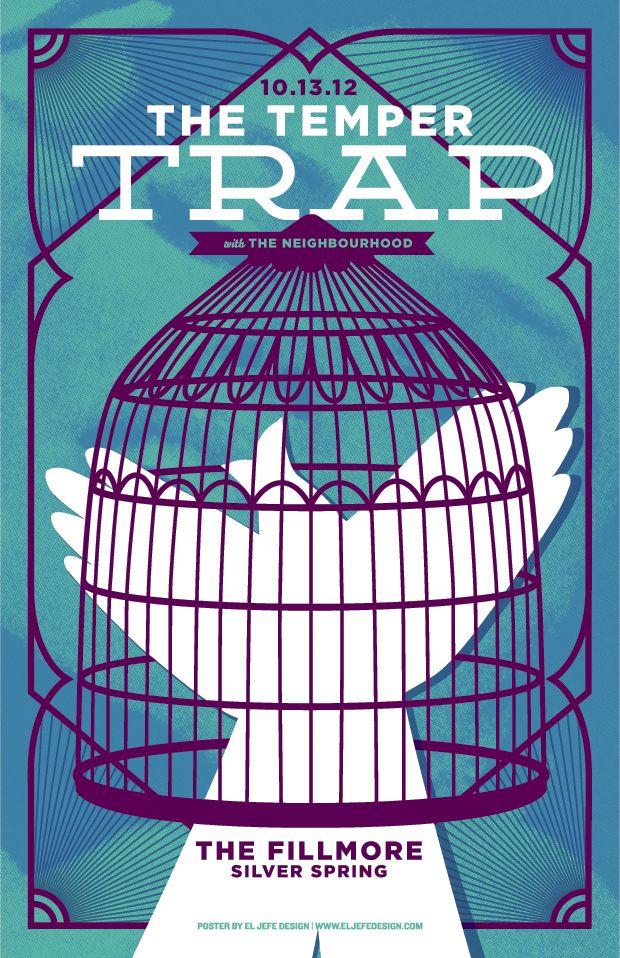 The Temper Trap Screen Printed Poster