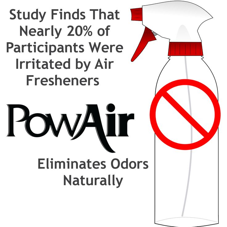 Use PowAir instead of Air Fresheners that simple mask odors.