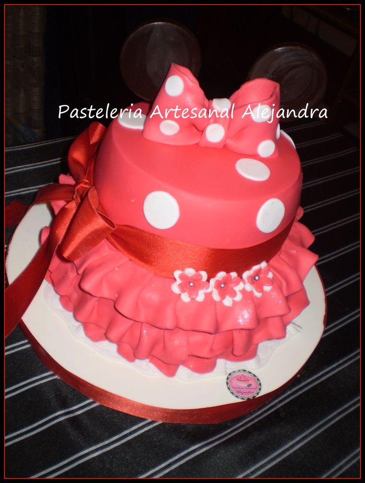 torta minnie roja con voladitos
