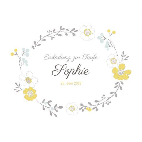Taufeinladung Blütenzauber by Mr and Mrs Clynk für Geburtskarten.com #Taufe #Taufeinladung #Blumen