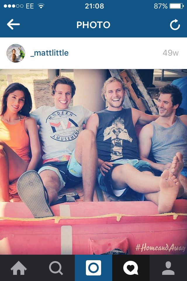 Pia Miller Matthew Matt Little George Mason Kyle Pryor Home And Away Cast Summer Bay Characters Soap Opera