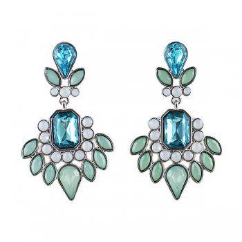 Blue Imitation Gemstone Dangle Earrings for women