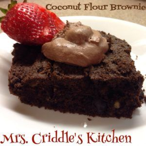 I've made quite a few things using almond flour. I like almond flour but I wanted to try coconut flour to switch it up a little. I LOVE this brownie recipe. I think it's better than the almond flour brownies. These brownies were moist, I love that. You can just throw everything...Continue to Recipe