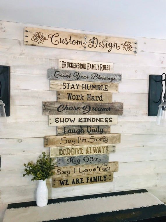 Personalized Family Rulescustom House Rules Signlarge Wood Etsy Family Rules Sign Personalized Family Rules House Rules Sign