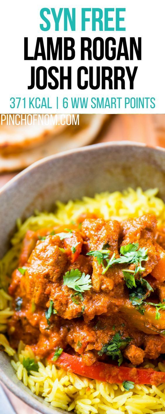 Syn Free Lamb Rogan Josh Curry   Pinch Of Nom Slimming World Recipes 371 kcal   Syn Free   6 Weight Watchers Smart Points