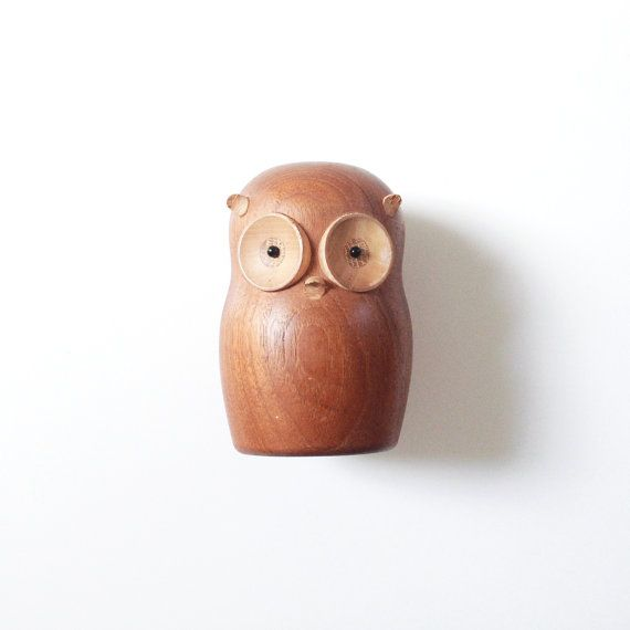 Vintage Gunnar Florning for Laurids Lonborg Owl Figurine