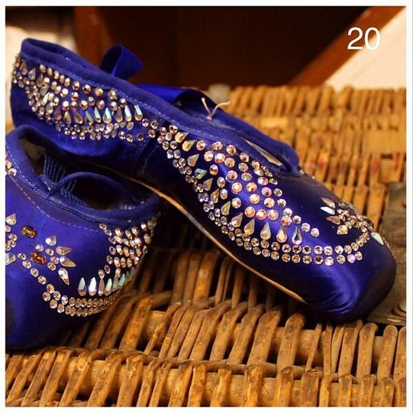 Caterpillar's Pointe shoes from the Royal Ballet's Alice In Wonderland