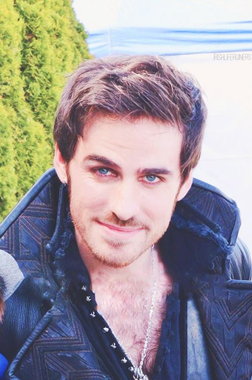 Captain Hook, as a reminder that I need to watch Once Upon a Time. That smile could melt me any day