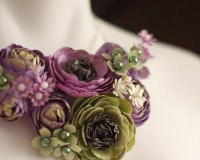 Gorgeous handmade paper flower jewelry