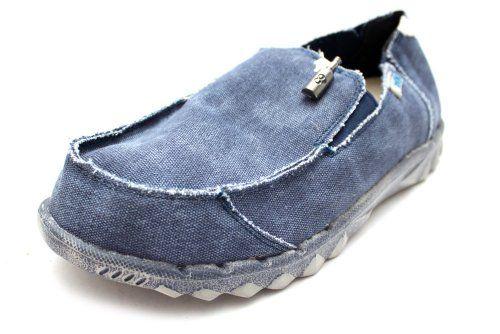 Hey Dude Farty - M0354C - Herren - Sneaker Leinen - Blau - http://on-line-kaufen.de/hey-dude/hey-dude-farty-m0354c-herren-sneaker-leinen-blau