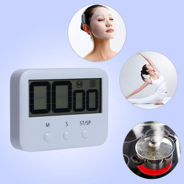 Pocket Digital Countdown Timer Clock with Alarm Large LCD Screen Time Counting Clock 99mins 59 seconds Kitchen Timers