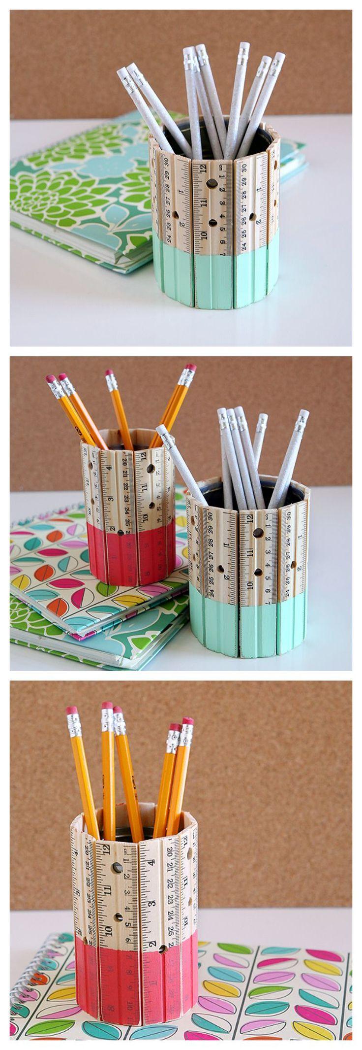DIY Ruler Pencil Holder 332 best Teacher