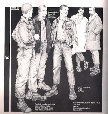 Skinheads and suedeheads styles