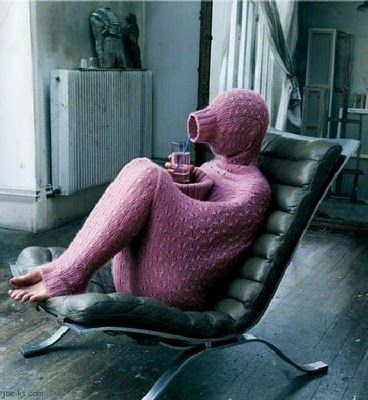Just because you can make it, doesn't mean you should....?snuggy gone viral? but would this be the solution to being cold ALWAYS? lol
