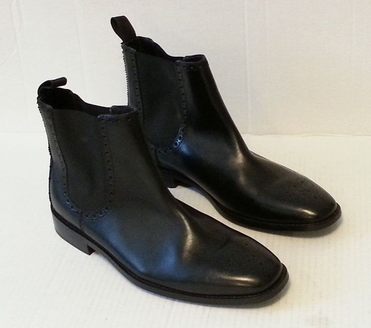 Cole Haan Grand.OS Men Size 8.5 Chukka Black #leather boots made in India C20091 ColeHaan visit our ebay store at  http://stores.ebay.com/esquirestore