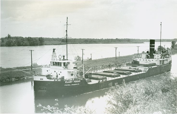 Clary Foran  - Built as Coteaudoc at Whiteinch, Great Britain in 1929,She was renamed the Milverton when she was acquired by the Colonial Steamship Line. On September 24, 1947, she collided with the tanker Translake near Iroquois. The boat caught fire and grounded near Morrisburg, where she broke in two and sank claiming 12 lives. In 1949, the Milverton was raised and towed to Port Weller where she was refitted and renamed Clary Foran. She retired from service in 1962 under the name…