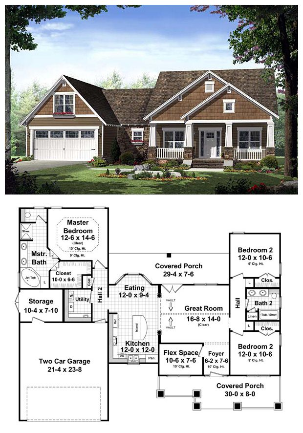 COOL House Plan ID: chp-42920   Total living area: 1619 sq ft, 3 bedrooms & 2 bathrooms. #craftsman #homeplan