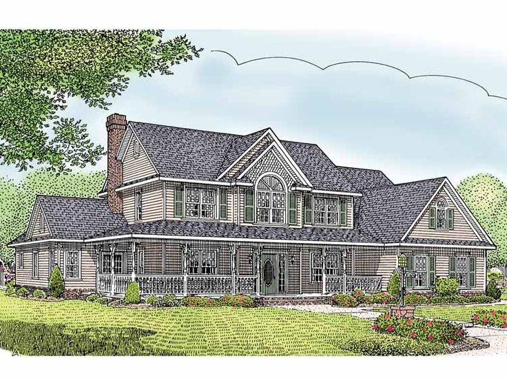 Farmhouse House Plan With 2599 Square Feet And 5 Bedrooms From Dream Home  Source | House