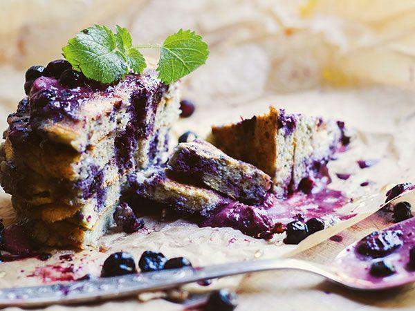 Blåbärspannkakor med quinoamjöl | Recept.nu