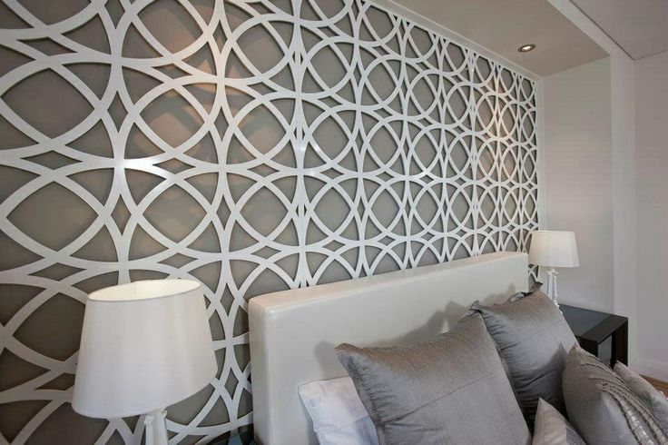 Bedroom feature wall interiordesign design screens for Feature wallpaper bedroom ideas