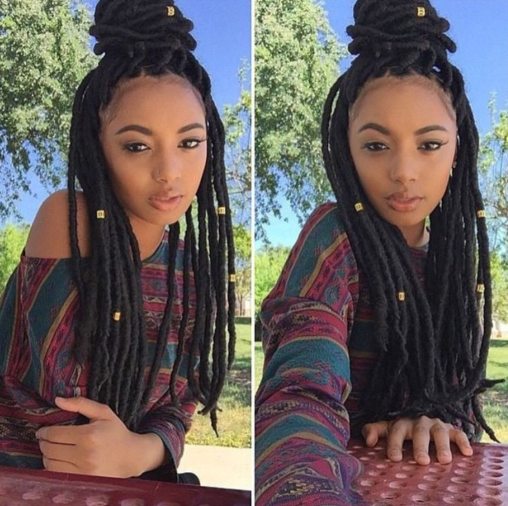 Terrific 1000 Images About Faux Locs On Pinterest Dreads Protective Short Hairstyles Gunalazisus