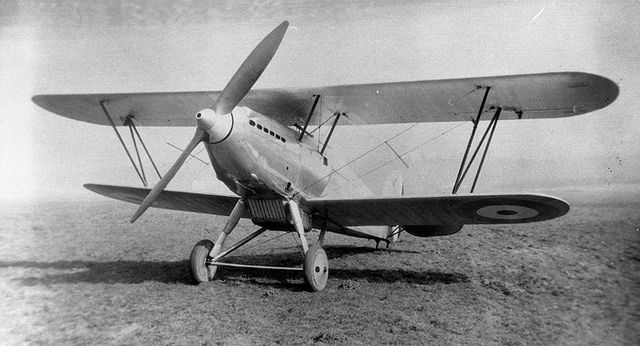 hawker fury biplane 1920s aircrafts pinterest