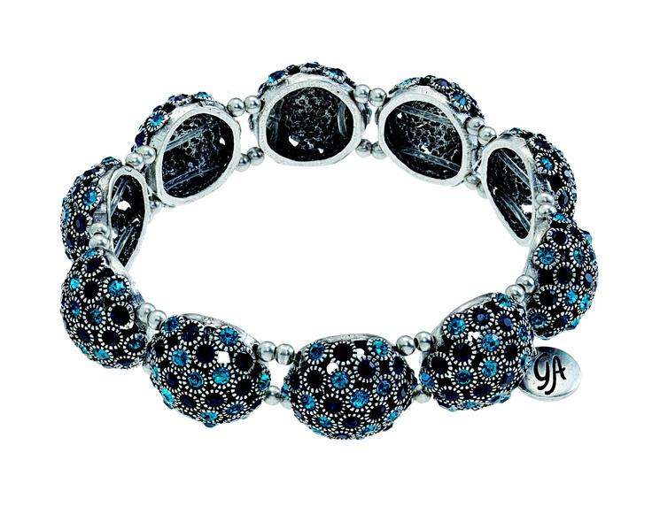 Grace Adele Bauble bracelet in teal