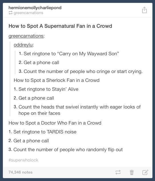 How to spot a fan in a crowd. I would love to try this out while walking down the street or in a mall.