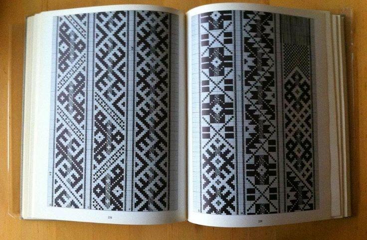"""Latviešu Jostas"" (in English ""Latvian Sashes, Belts and Bands"") by Aleksandra Dzērvītis and Lilija Treimanis in Latvian and English (English text by Vila Abele Wurstner). Published in 1982."