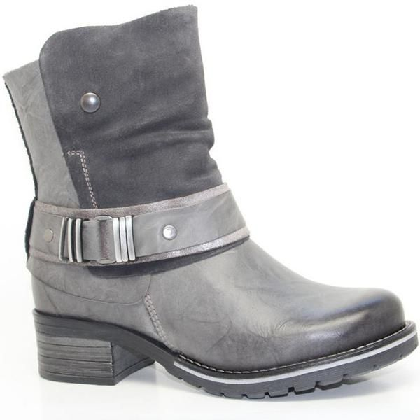 Short Padded Comfort Boot With Inside Zipper, With Soft Waxy Leather That  Has…