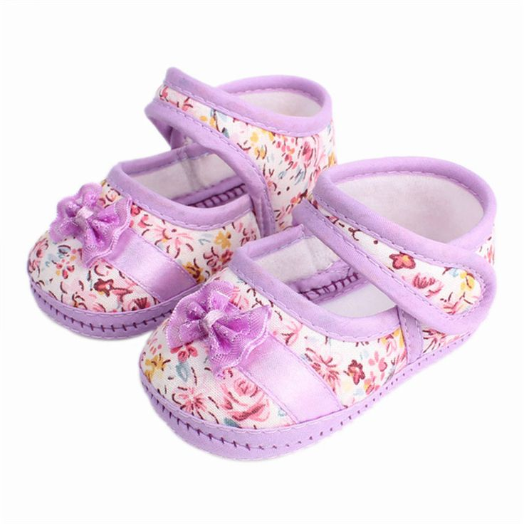 Baby Girls flowers bow baby toddler shoes children footwear first walkers size 1 2 3