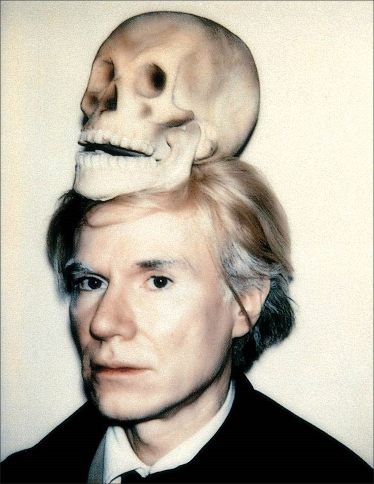 Andy Warhol · Self Portrait with Skull · 1977 · Andy Warhol Museum · Pittsburgh