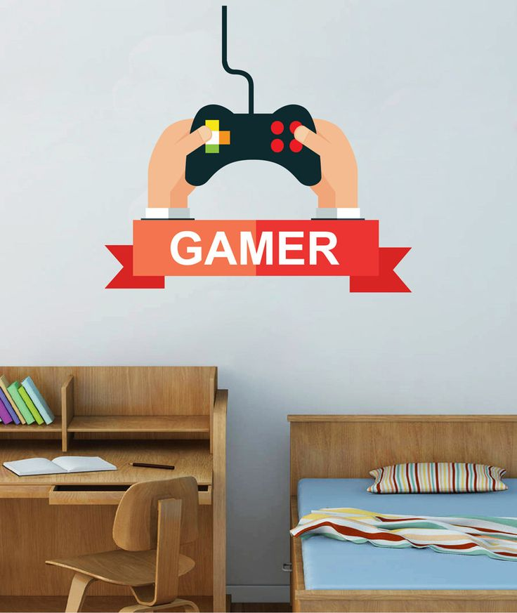 cik1497 Full Color Wall decal controller console Xbox 360 Game PS4 player bedroom teens