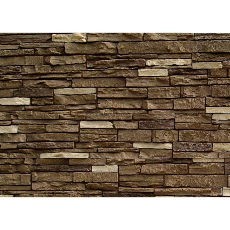 Shop NextStone Brunswick Brown Slatestone Faux Stone Veneer Panels At Lowes C