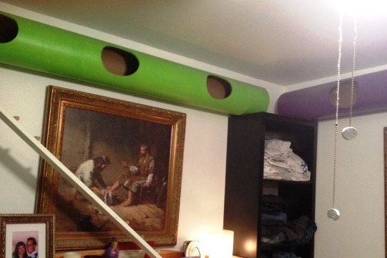 Custom Built Sky Tubes for Every Cat Lover! A Kitty Playground that doesn't require floor space! by CustomKittySkywalk on Etsy