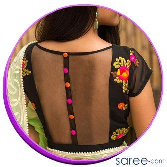 Buttoned back design