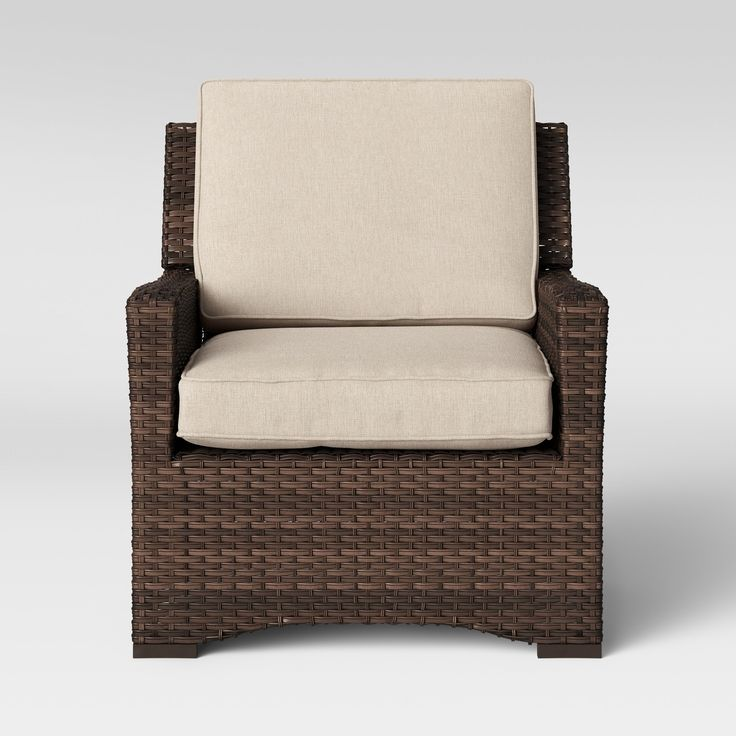 Halsted All Weather Wicker Outdoor Patio Club Chair W