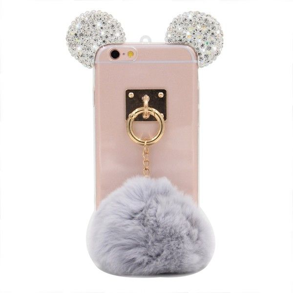 iPhone 6S Plus Case, MC Fashion Handmade Sparkle Bling Bling 3D... ($11) ❤ liked on Polyvore featuring accessories and tech accessories