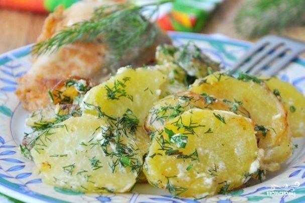Картофель со сливками - пошаговый кулинарный рецепт на Повар.ру